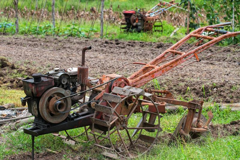 The old tractors stock image