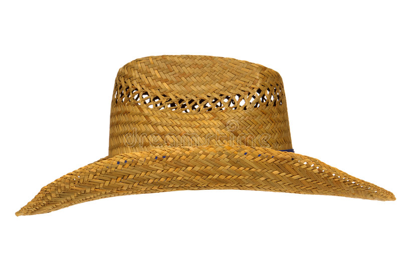 Download Old Traditional American Farmer Straw Hat Isolated Stock Image - Image: 4314941
