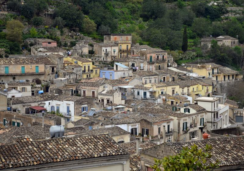Modica, Sicily, Italy. view of the old city center stock images