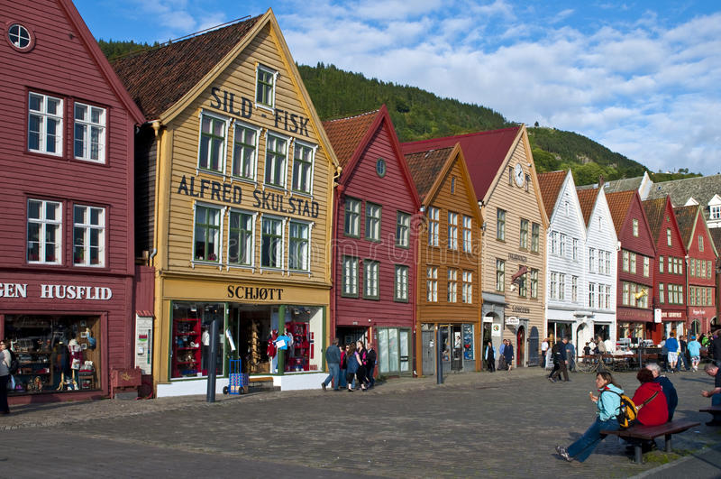 Old Traditional Buildings In Bergen Editorial Stock Image