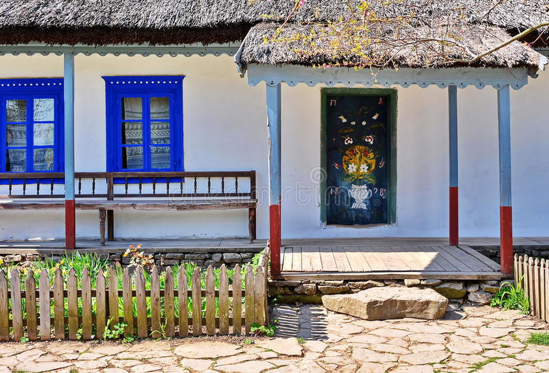 Rustic traditional house from Danube Delta royalty free stock photos