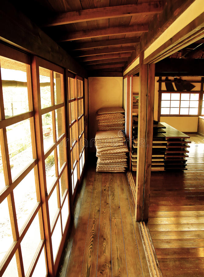 Old traditional Japanese House Interior stock photos