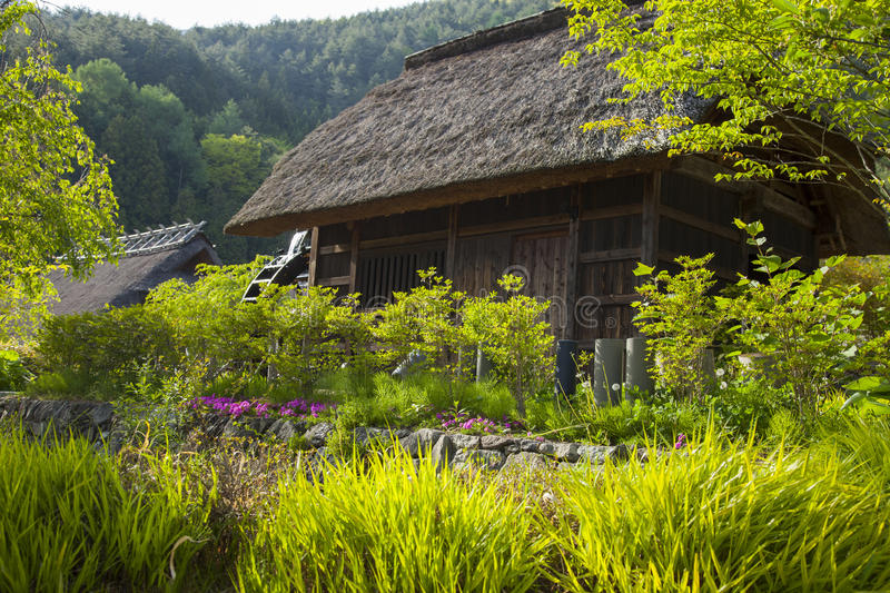 Old traditional Japanese Houses stock photos