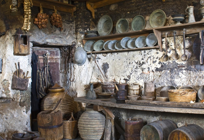 Old traditional kitchen stock images