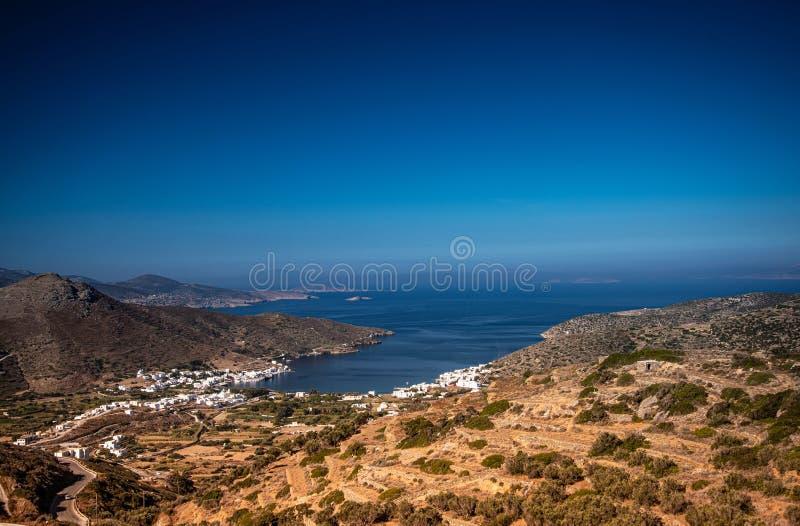 Greece, Cyclades, Amorgos island, Katapola harbor view royalty free stock image