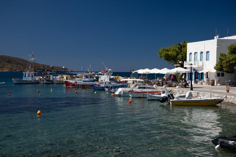 Amorgos island, Katapola harbor, Greece royalty free stock image