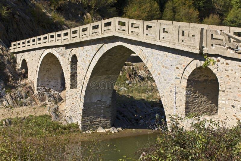 Old Traditional Stone Made Bridge At Greec Stock Photos