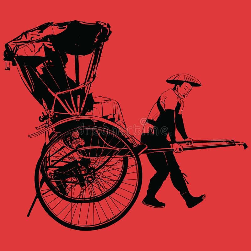 Free Old Traditional Vintage Japanese Hand Pulled Rickshaw Royalty Free Stock Image - 136627316