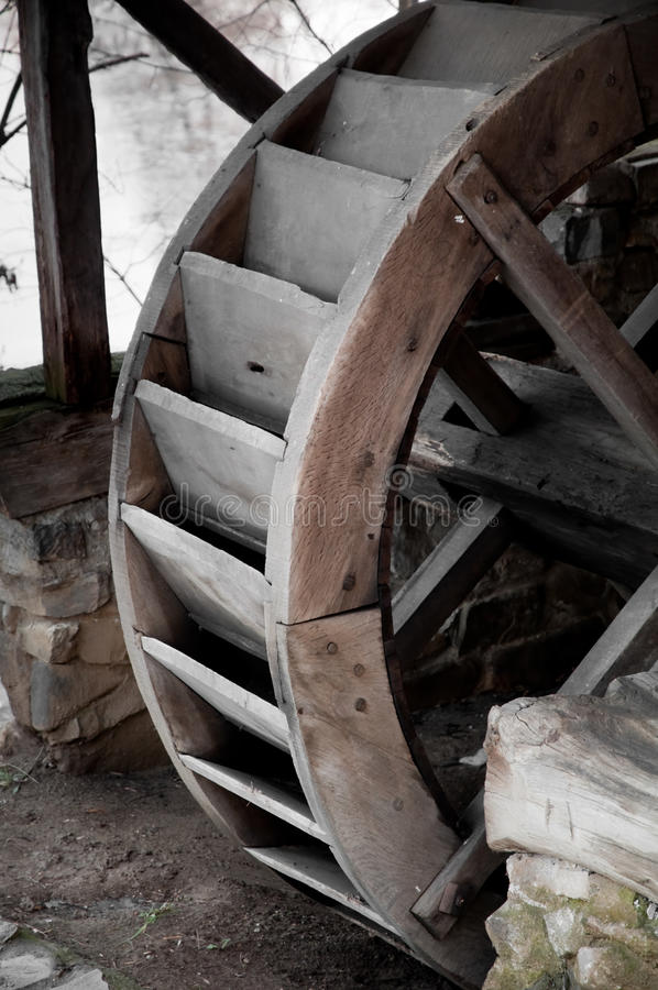 Old Traditional Water Mill stock photos