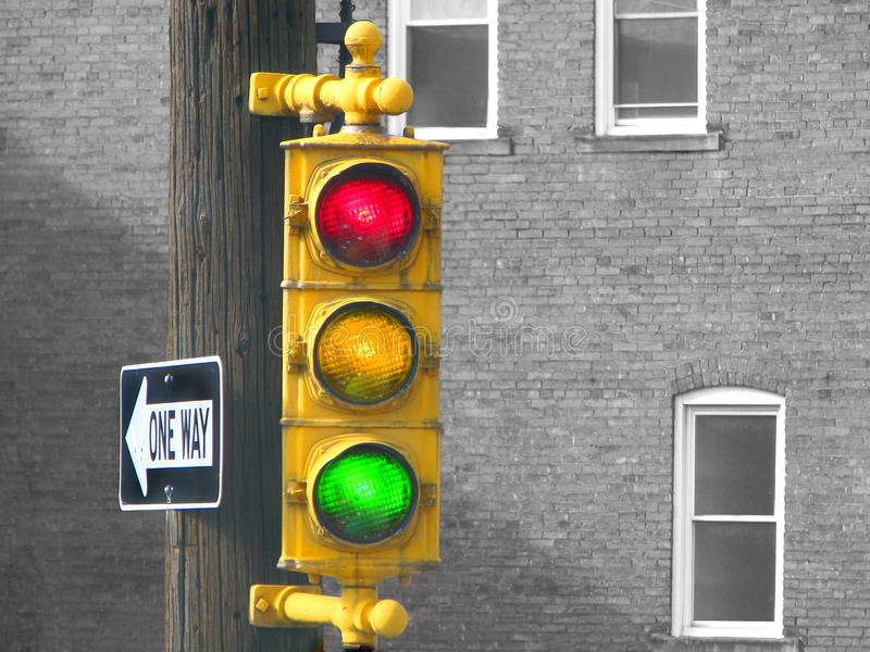 Old Traffic Light royalty free stock photos