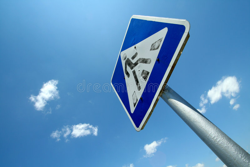 Download Old traffic sign stock image. Image of protection, blue - 2752455