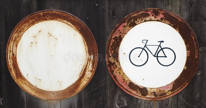 Download Old traffic signs stock photo. Image of cycling, forbidden - 16416250