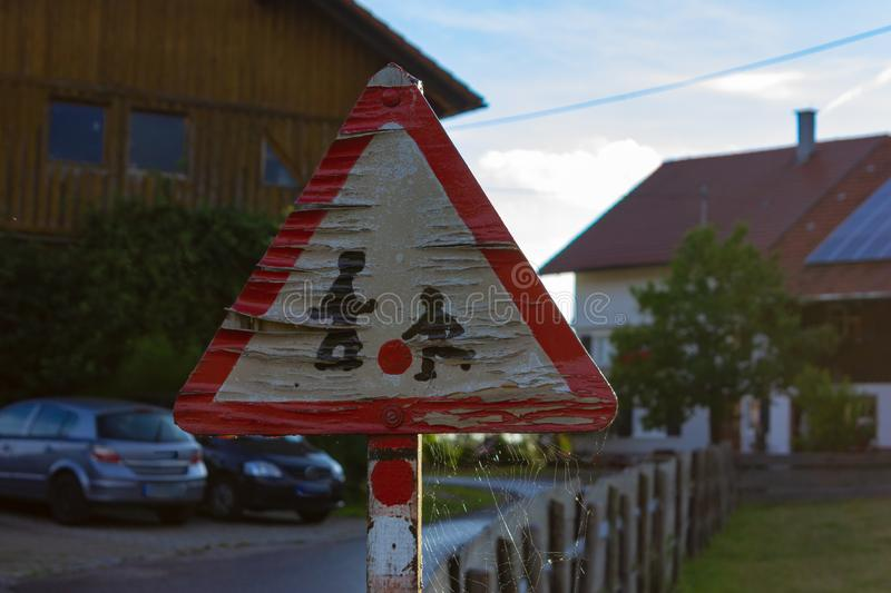 old traffic signs stock images