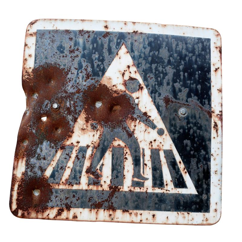Old traffic signs. royalty free stock image