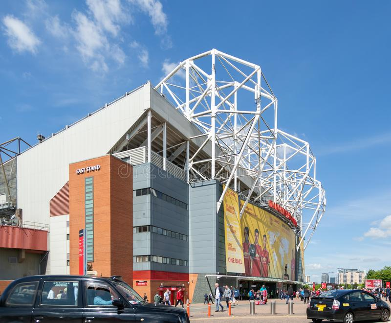 Old Trafford football Stadium, home to Manchester United football club royalty free stock image