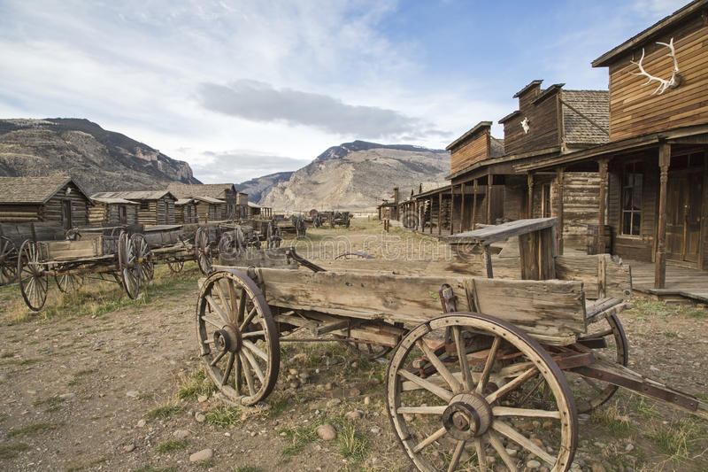 Old Trail Town Cedar Rattlesnake mountains royalty free stock image