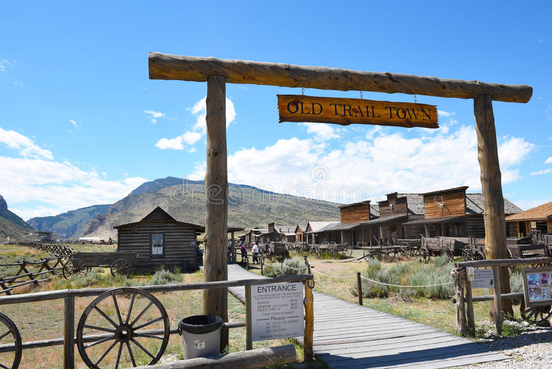 Old Trail Town Entrance royalty free stock photography