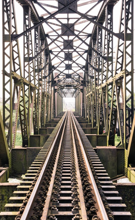 Old train bridge stock images