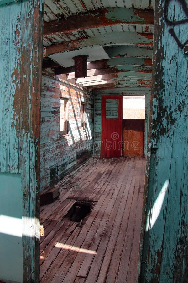 Old train car in ghost town stock photo