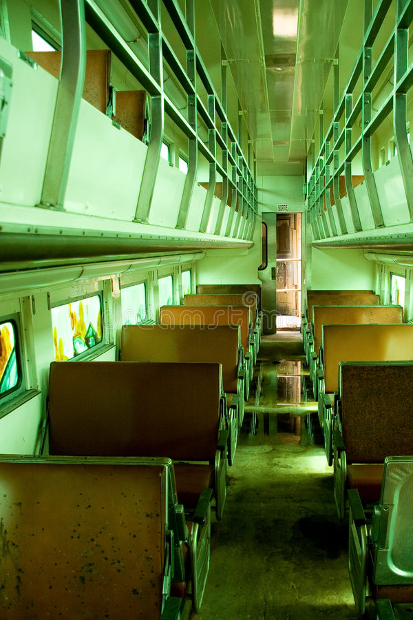 Free Old Train Carriage Interior Stock Photo - 7285420