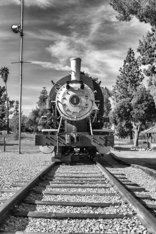 The Old Train, Front View. Front view of the old train stock photography