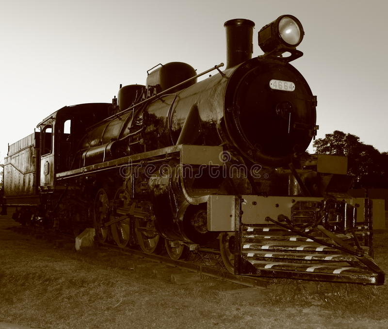 Old train. Parked royalty free stock photography