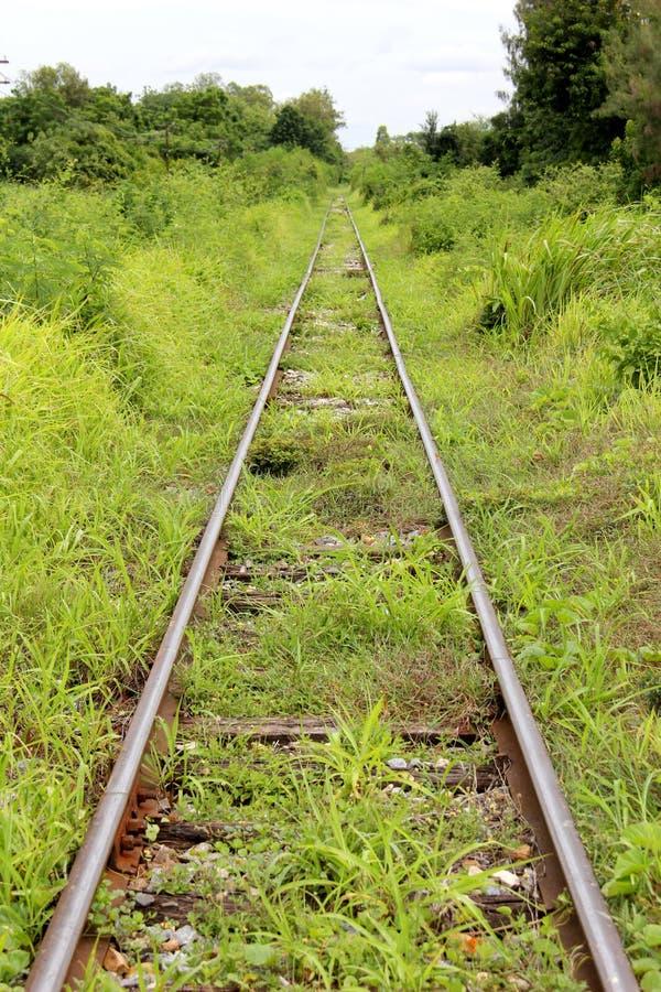 Converging Railway Tracks stock image. Image of travel