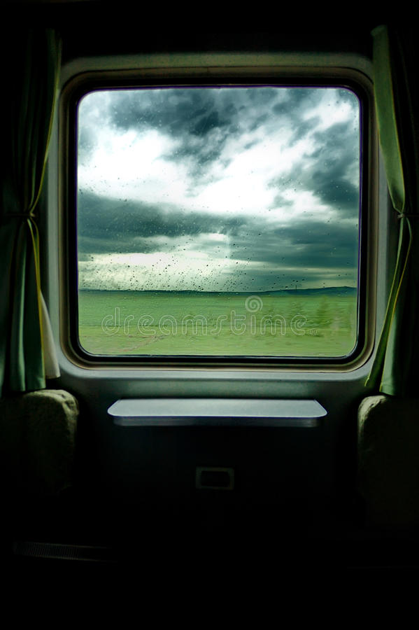Download Old train trip stock photo. Image of rain, storm, carriage - 20937384