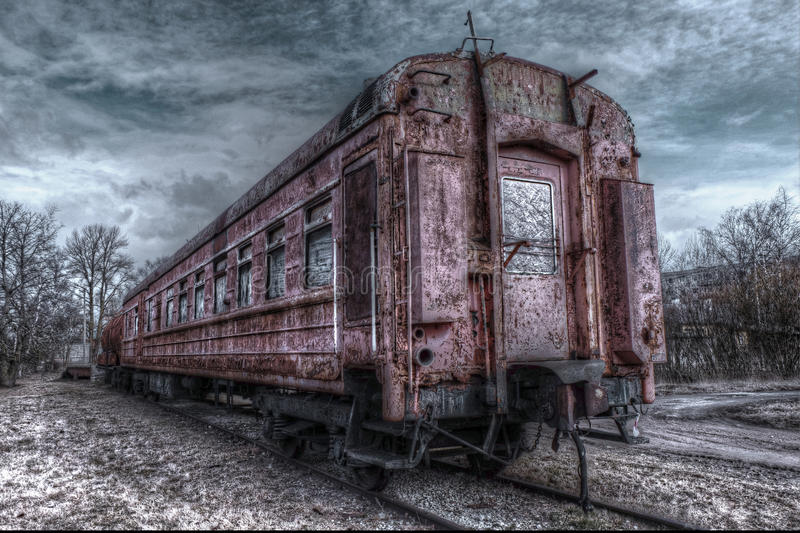 Old train wagon. In estonia, haapsalu city royalty free stock photo