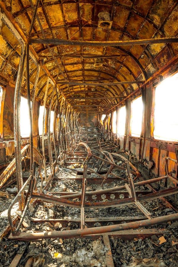Old train wagon stock photo