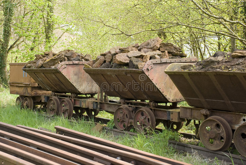Old train wagons. Old train wagon from a steel mine royalty free stock photo