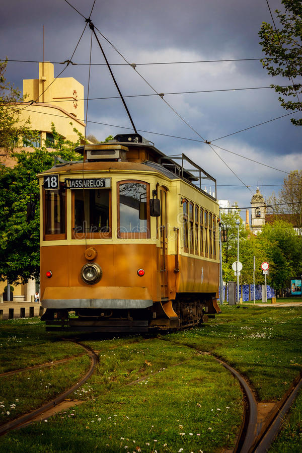 Download Old Tram In Porto Editorial Stock Photo - Image: 83723638