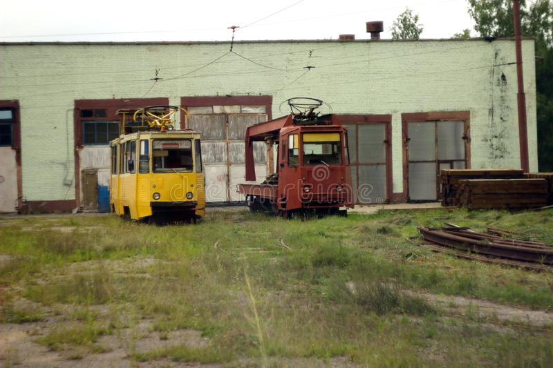 The old trams royalty free stock photography