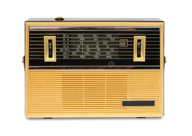 Download Old transistor radio stock image. Image of black, wireless - 7658767