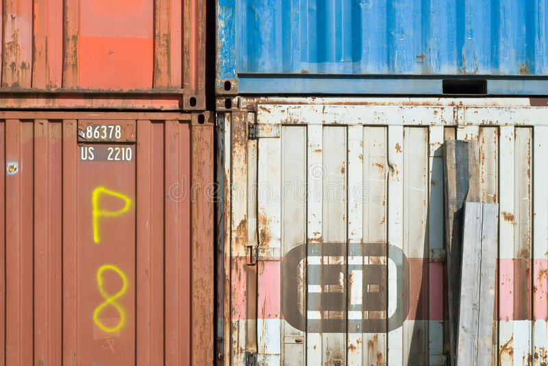 Old Transport Containers. For Commercial Storage and Shipping royalty free stock photography