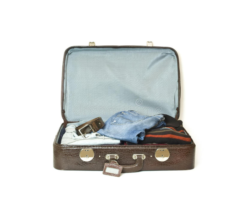 Old Travel Case With Luggage Stock Images