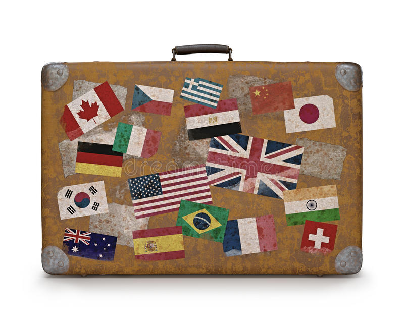 Download Old Traveled Bag stock photo. Image of states, travel - 42833066