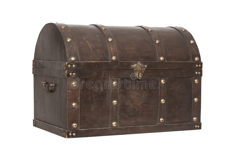 Old Treasure Chest Isolated Royalty Free Stock Photo