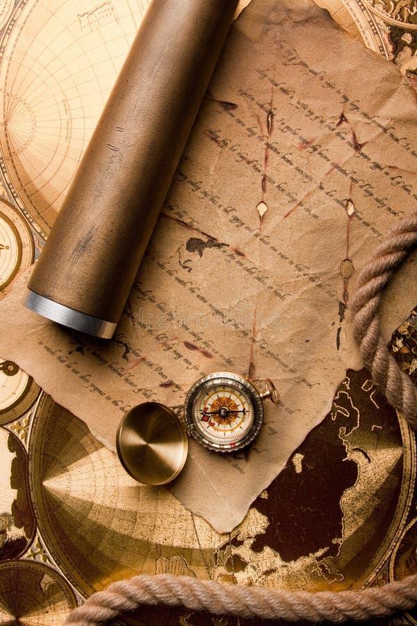 Download Old Treasure map stock photo. Image of navigate, closeup - 14336746