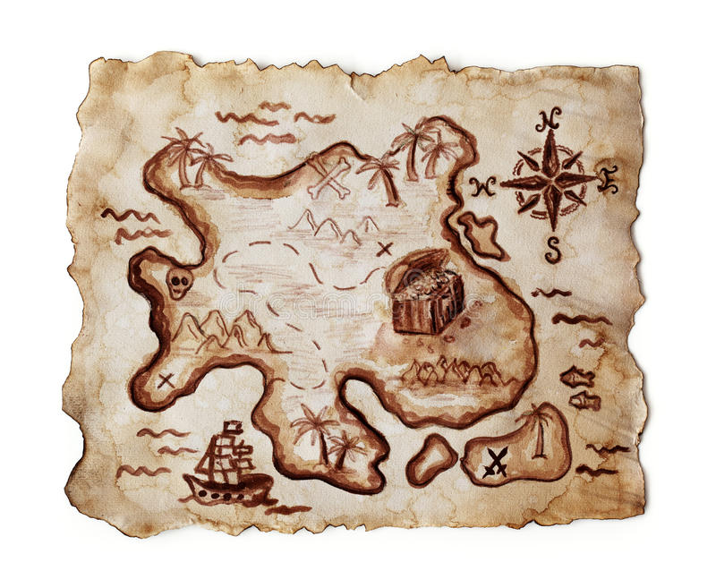 Download Old treasure map stock image. Image of background, mystery - 16985337