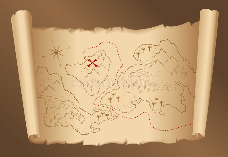 Download Old Treasure Map Stock Photo - Image: 6805520