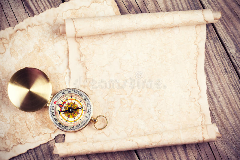 Old treasure map royalty free stock image