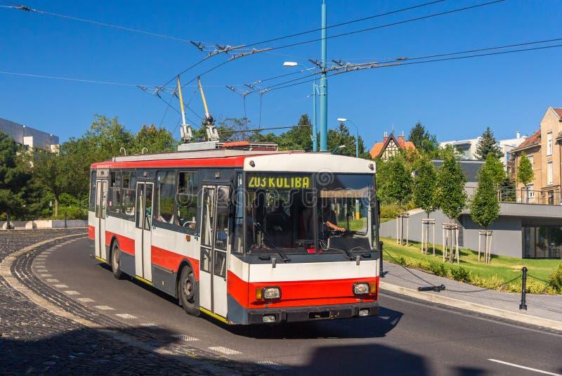 Old trolleybus in Bratislava - Slovakia stock image