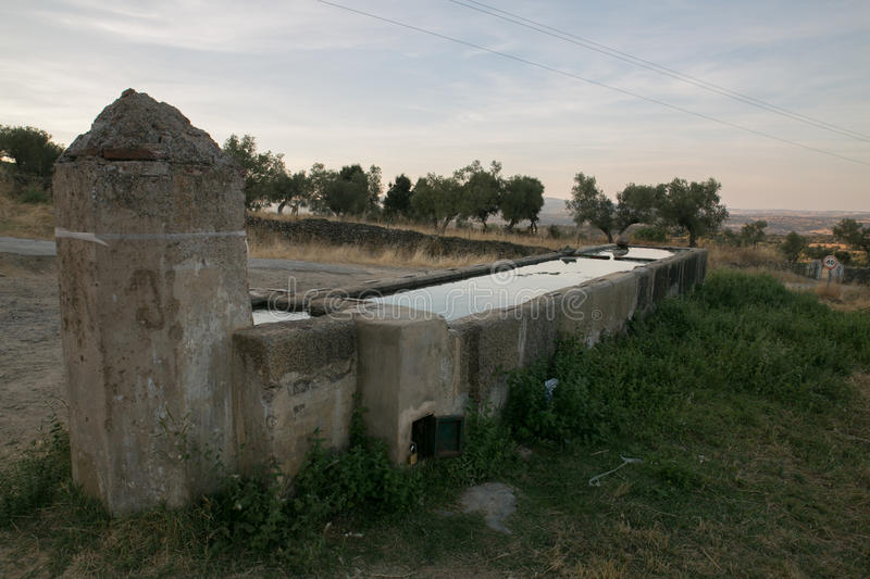 Old trough. source. Cumbres Mayores. Huelva royalty free stock photo