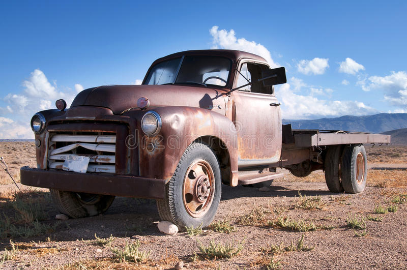 Old Truck. An old disused truck nevada desert royalty free stock photo