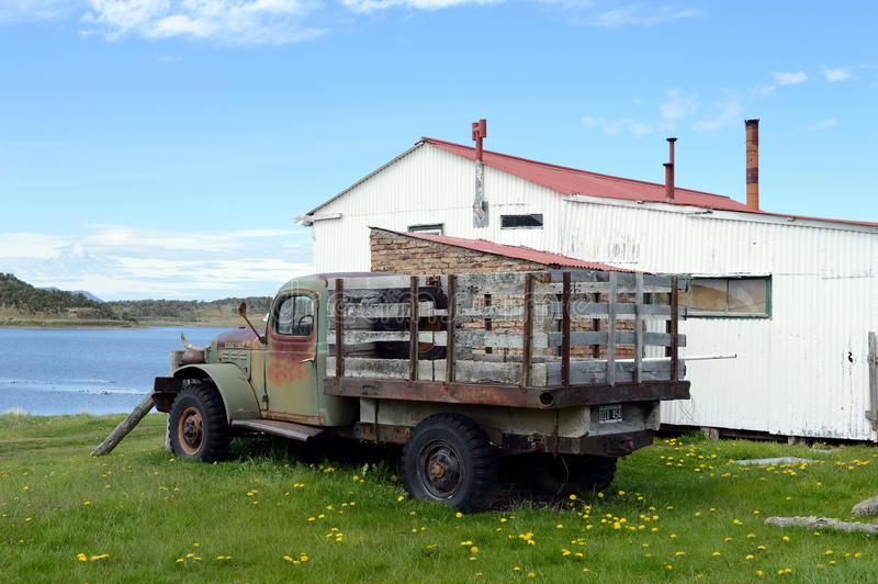 Old truck on the Dodge estate Herberton. stock photo