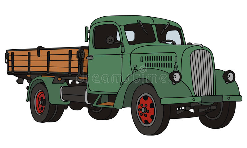 Download Old truck stock vector. Illustration of transportation - 34638484