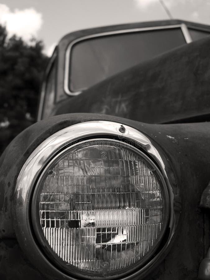 Free Old Truck Headlight BW Royalty Free Stock Photos - 718308