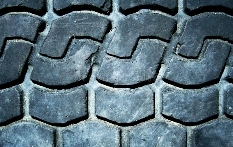 Old truck tire texture stock photo