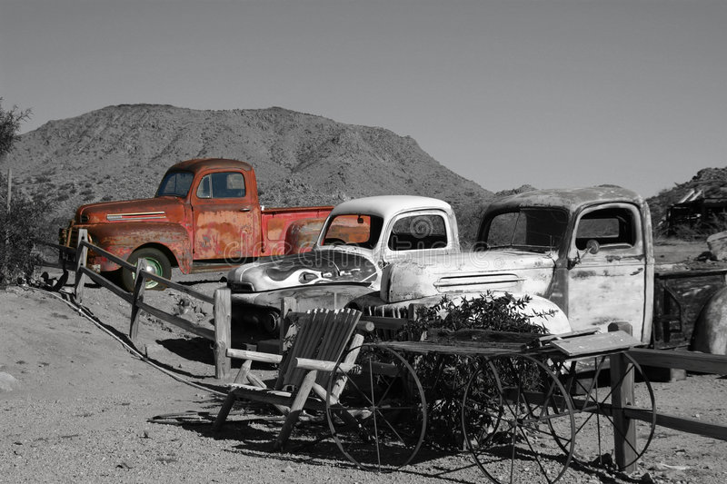 Old Trucks stock image